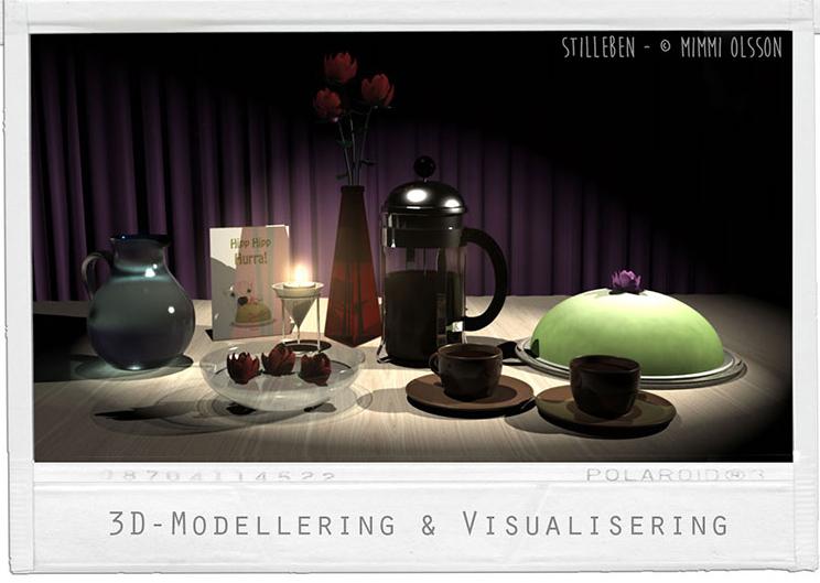 Stilleben - Fokus på materialegenskaper och att arbeta fram ljus ur mörker. Manuell ljusättning.