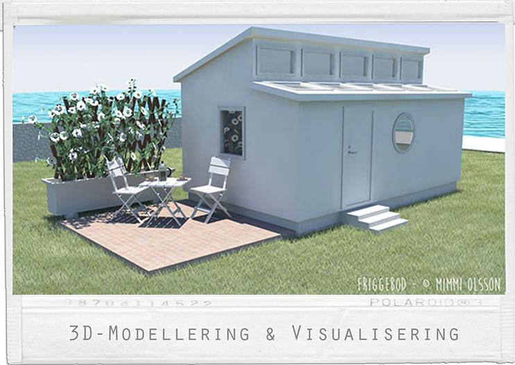 Design av Friggebod med uteplats