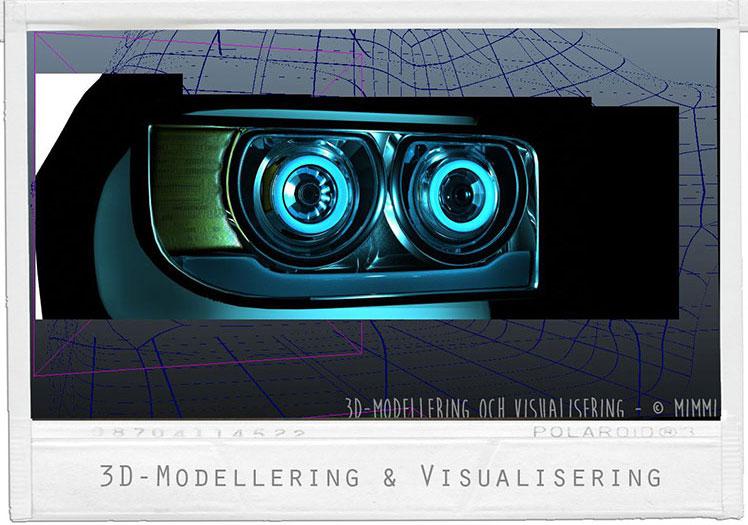 Detalj - Framlykta med ljussättning, del i bilprojekt.